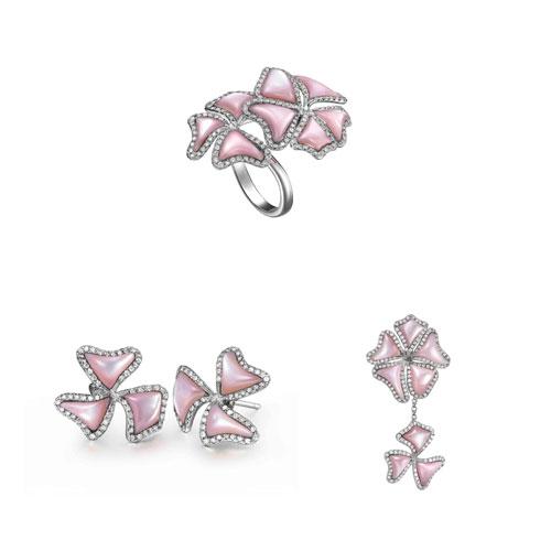 珠宝展示手绘效果图; 钻石