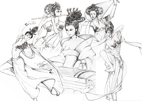 模特协会招新手绘海报